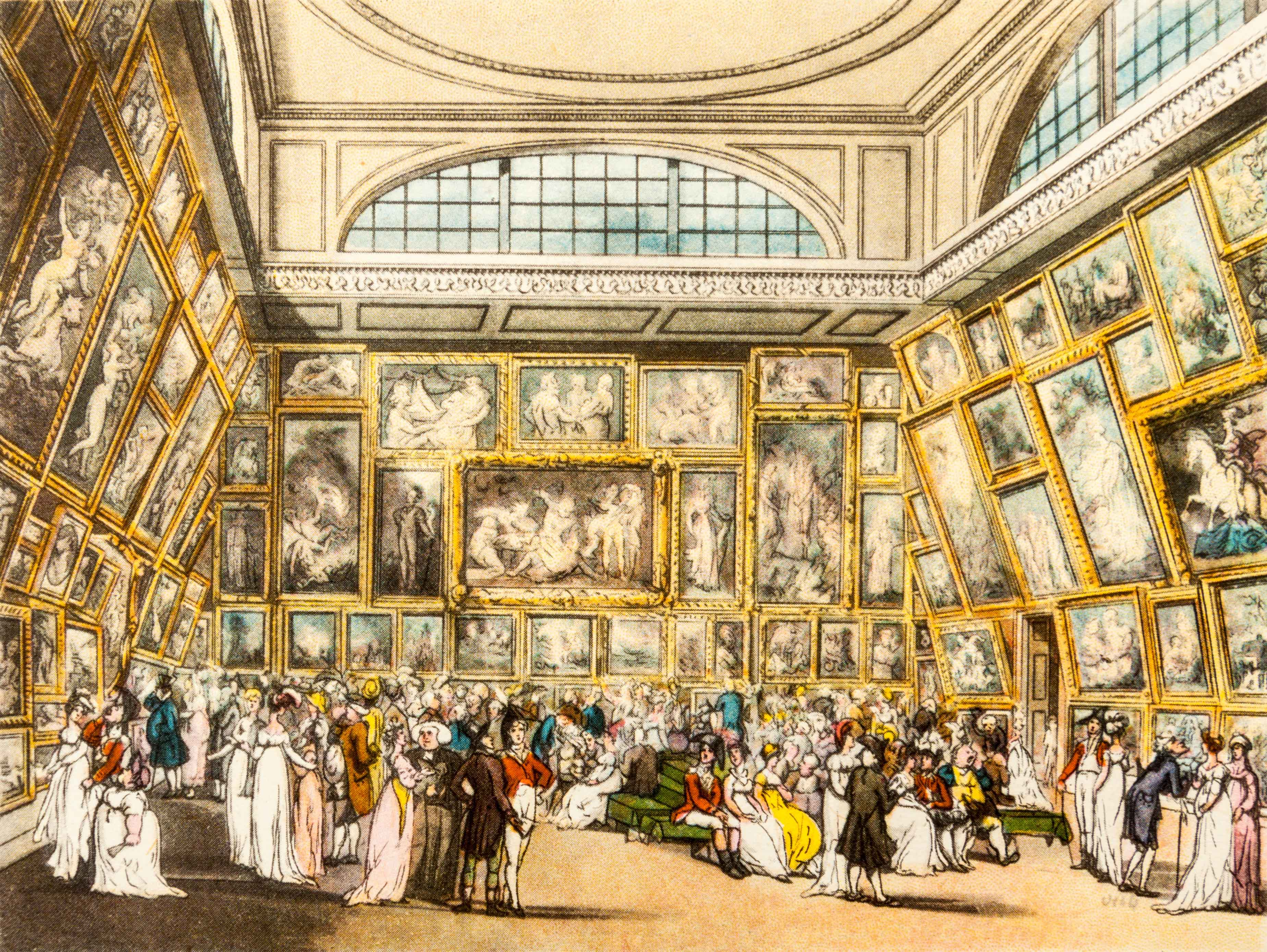 The Royal Academy Exhibition in Somerset House, 1808© Marc Tielemans /Alamy Stock Photo